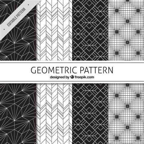 geometric pattern ai download black and white geometric patterns vector free download