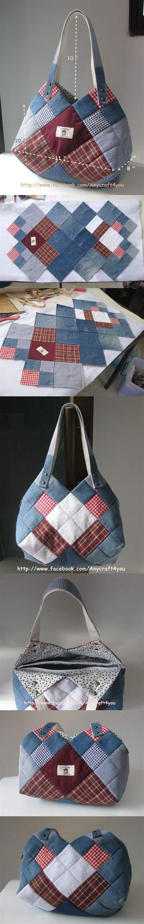 Denim Patchwork Bag Patterns Free - 1423 best images about stitch bags on purse
