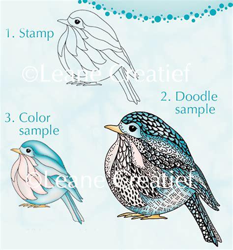 doodle bird leane creatif lea bilities clear st doodle bird