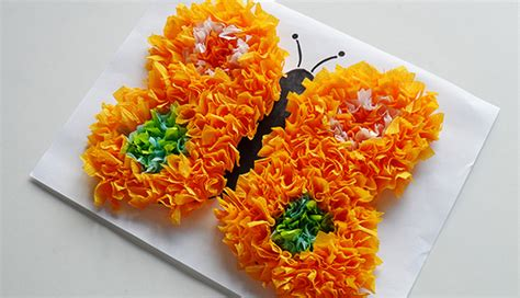 Crafts To Make With Tissue Paper - crafts made from tissue paper