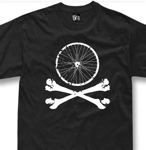 Tshirt Solidarity Riders Clothing bike wheel skull t shirt mountain bike mtb bicycle