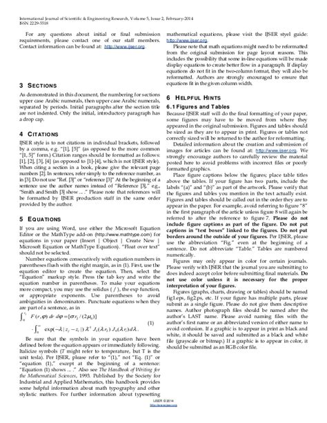 ieee journal template word ijser template international journal of scientific