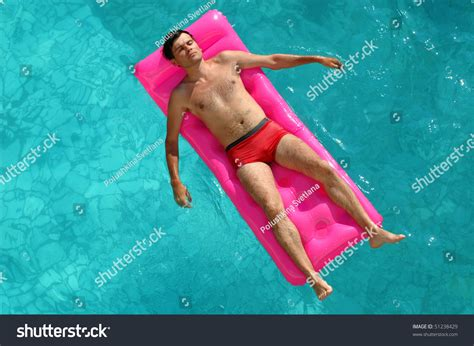 mattress in a pool floating on mattress water stock photo 51238429