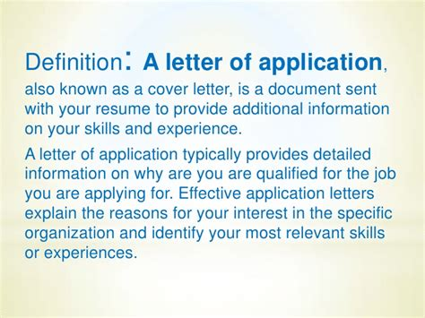 define letter of application a letter of application by mazenceva 1071 1