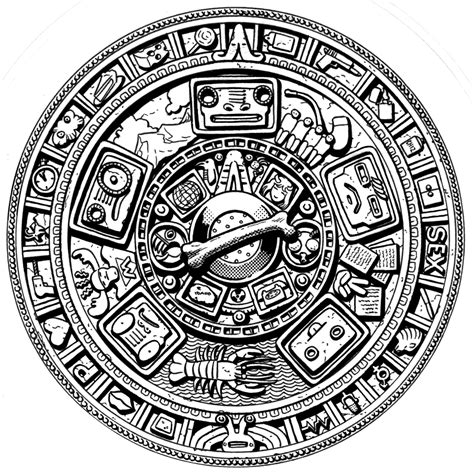 image gallery mayan calendar drawing