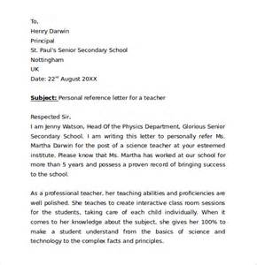 5 personal reference letter download free documents in