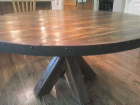 Hand Made Barn Wood Kitchen Table by Jay's Custom Woodwork
