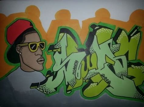 drawing graffiti wildstyle letters character swag