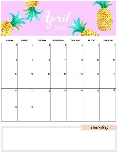 pretty calendar template and crafty monthly calendar 2018 calendar 2018