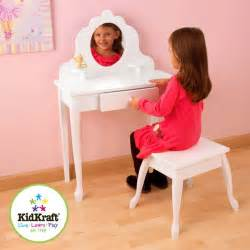 Home girls dressing table amp stool set by kidkraft