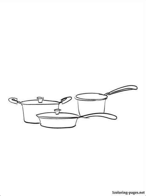 Kitchen Utensils Pictures To Color Cookware Coloring Page Coloring Pages
