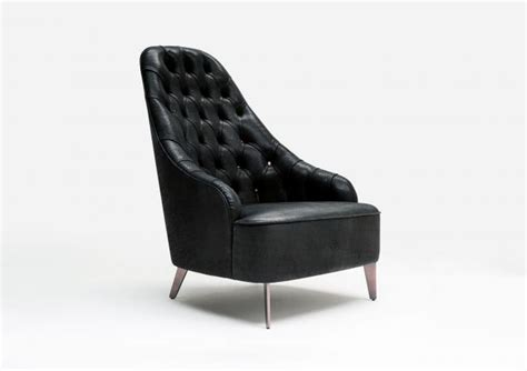 design poltrona bertolive design black leather armchair berto salotti