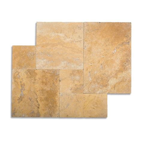 french pattern gold travertine tile french pattern ephesus marble brushed chiseled tile