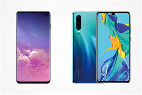Huawei 4 Vs Samsung Galaxy S10 by Huawei P30 Vs Samsung Galaxy S10 Pricing And Specifications