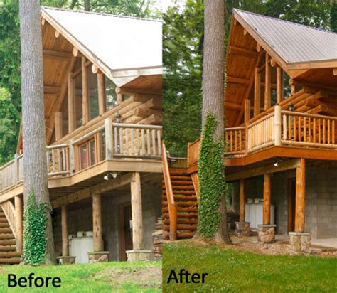 cleaning log home exterior log home staining cleaning services log building