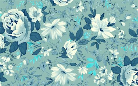 pattern blue free 18 vintage floral wallpapers floral patterns