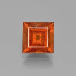 Hessonite Garnet 3 04 Crt 3 carat square 7 9x7 9mm and untreatedorange