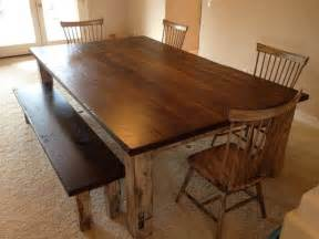 dining table large reclaimed oak farmhouse table