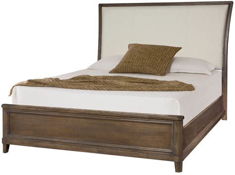 king upholstered sleigh bed park studio weathered taupe cal king upholstered sleigh