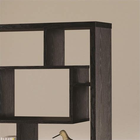 asymmetrical cube bookcase with shelves coaster contemporary asymmetrical cube bookcase black
