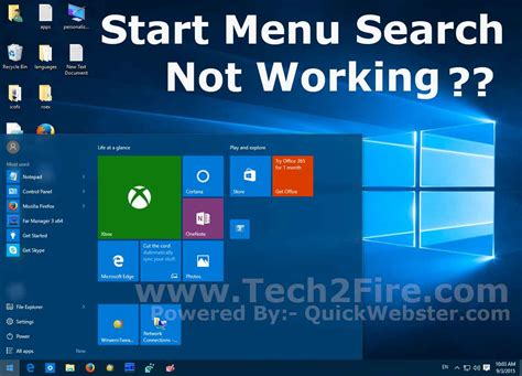 Windows 10 Search Email Windows 10 Start Menu Search Not Working Fix Tech2fire