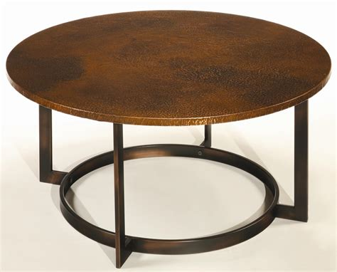 round copper table top round copper top coffee tables hammered coffee table ppinet