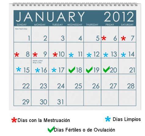 Calendario Fertil Calculadora De Fertilidad Quedar Embarazada