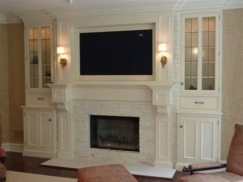 Fireplace Surround Ideas With Tv by Fireplace Surrounds Fireplaces And Bookcases On