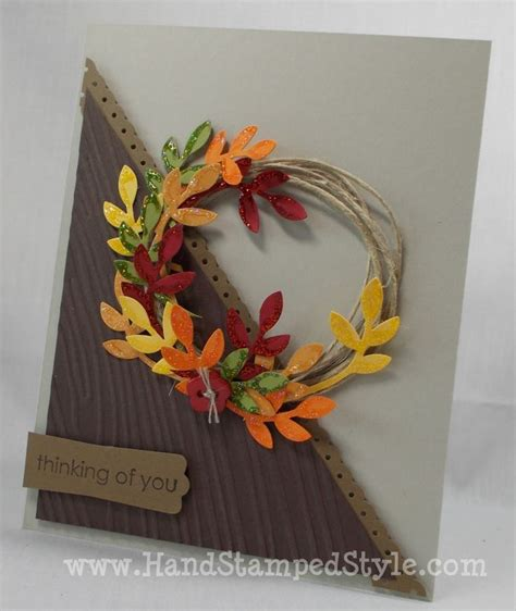 thinking of you wreath card card autumn fall
