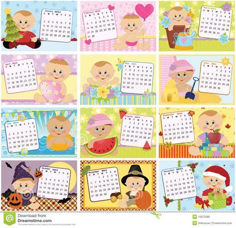 Calendario Por Años Calend 225 Mensal Do Beb 234 Para 2011 Fotos De Stock Royalty