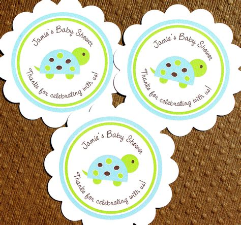 printable stickers baby shower items similar to printable turtle baby shower labels for