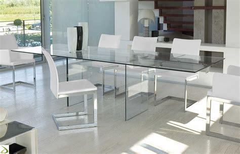 tavolo allungabile vetro trasparente tavolino in cristallo trasparente allungabile miami