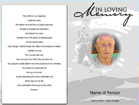 free printable funeral card templates 5 free printable obituary program template lease template