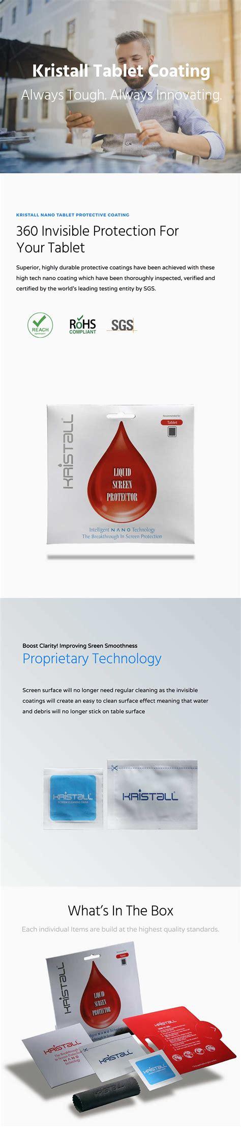 9h Nano Liquid Screen Guard Protector Samsung Galaxy Tab S2 9 7 Lte kristall liquid screen protector nano coating for tablets
