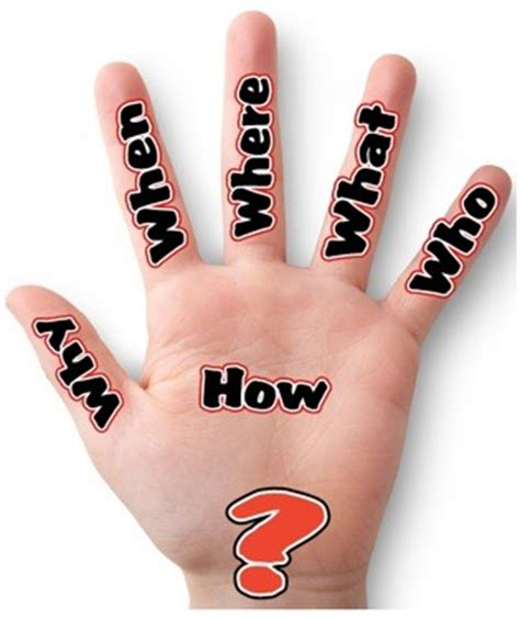 learn how to ask the 5 w s h e questions the the 5 question words a hand graphic organizer poster for