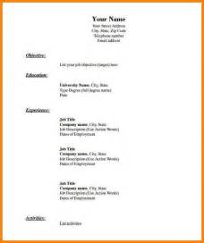 Sle Resumes In Word Format by 7 Empty Resume Template Word Cashier Resumes