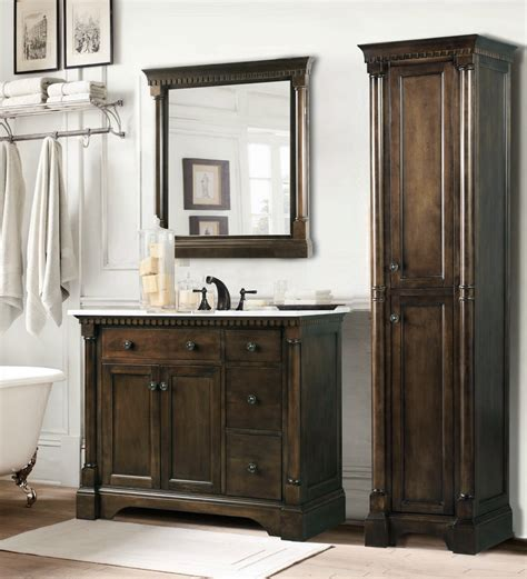 Home Depot Com Bathroom Vanities Legion 36 Inch Antique Single Sink Bathroom Vanity In