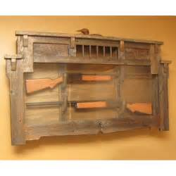 Rustic gun racks wall reanimators