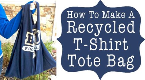 How To Make Tshirt diy make a recycled t shirt into bag diy craft projects