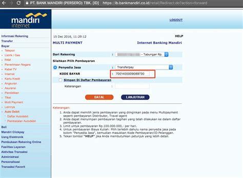 email bank mandiri cara transfer virtual account bank mandiri dengan mudah