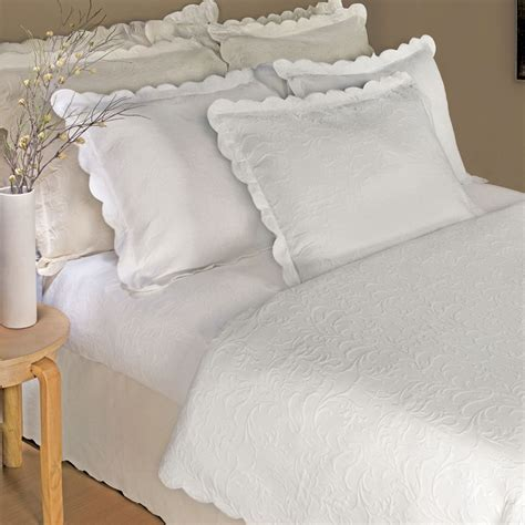 best coverlet bedroom attractive matelasse coverlet scalloped edge and