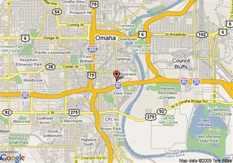 location map omaha ne map of comfort inn at the zoo omaha omaha