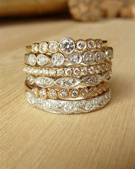 stacked eternity wedding bands 17 best ideas about bezel set ring on bezel