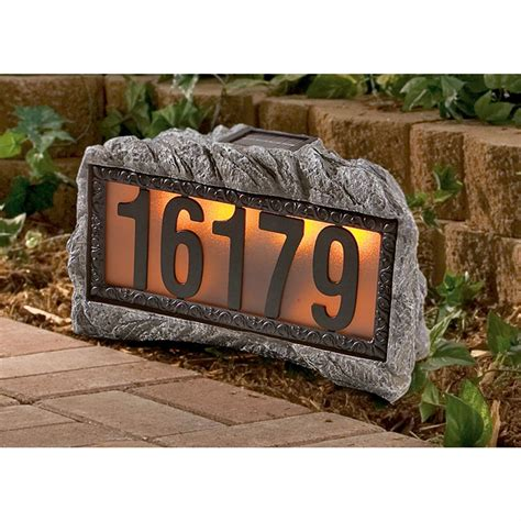 Westinghouse 174 Solar Powered House Number Rock 93784 Solar Outdoor Lighting At