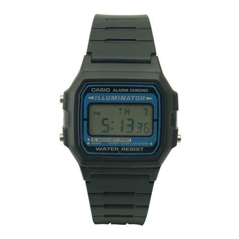 casio casual mens digital black jewelry watches