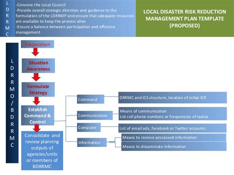 risk reduction plan template proposed local disaster risk reduction management planning