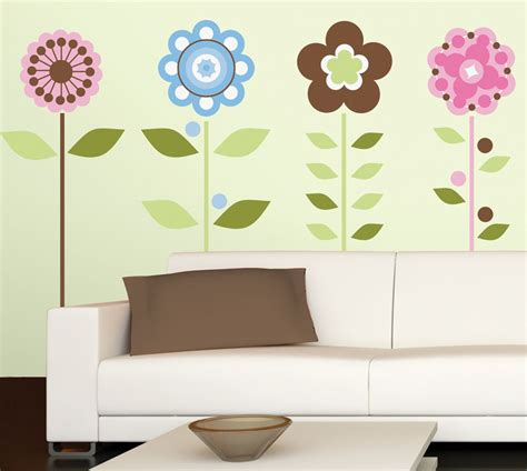 Flowers Wall Stickers flower wall sticker 2017 grasscloth wallpaper