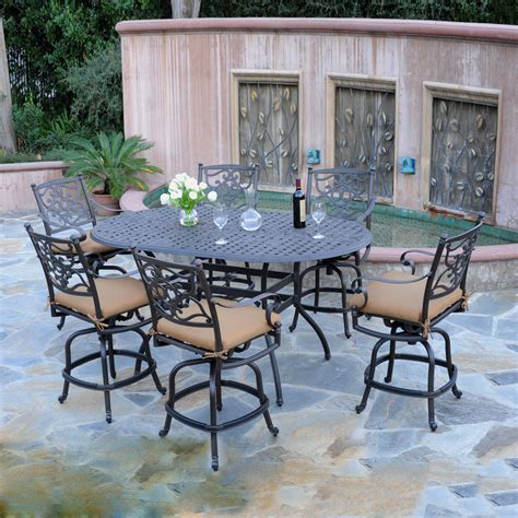 Outdoor Dining Sets Bar Height Meadow Decor K7c6 Kingston 7 Outdoor Counter Height