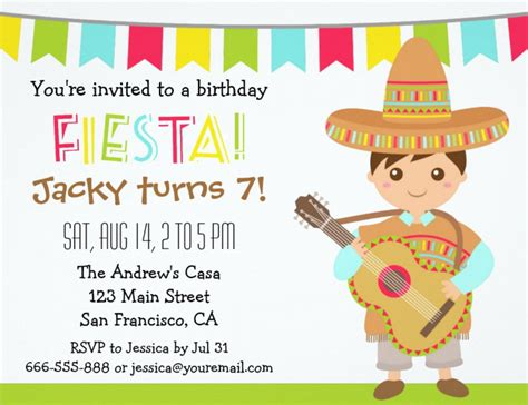 Mexican Invitation Template Mexican Fiesta Party Invitation Templates Free Home Party Theme Ideas