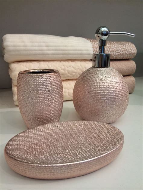 rose bathroom accessories rose gold bathroom accessories at homegoods and marshall s